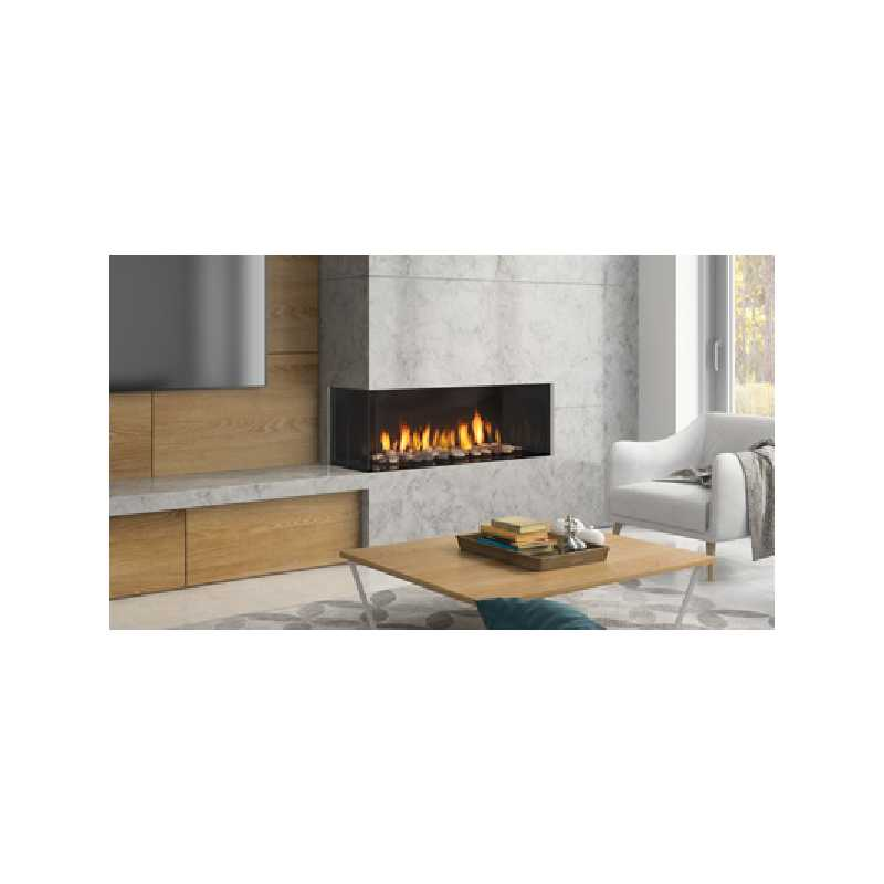 Chicago Corner 40le Gas Fireplace, City Series Modern Gas Fireplaces, Grills, Miami FL