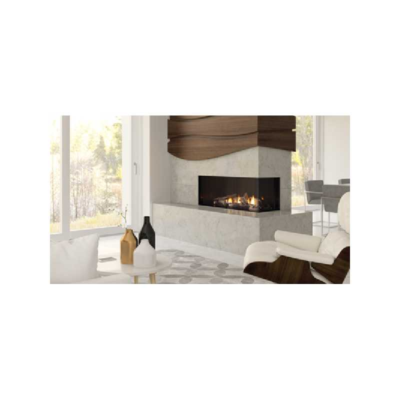 Chicago Corner 40re Gas Fireplace, City Series Modern Gas Fireplaces, Grills, Miami FL