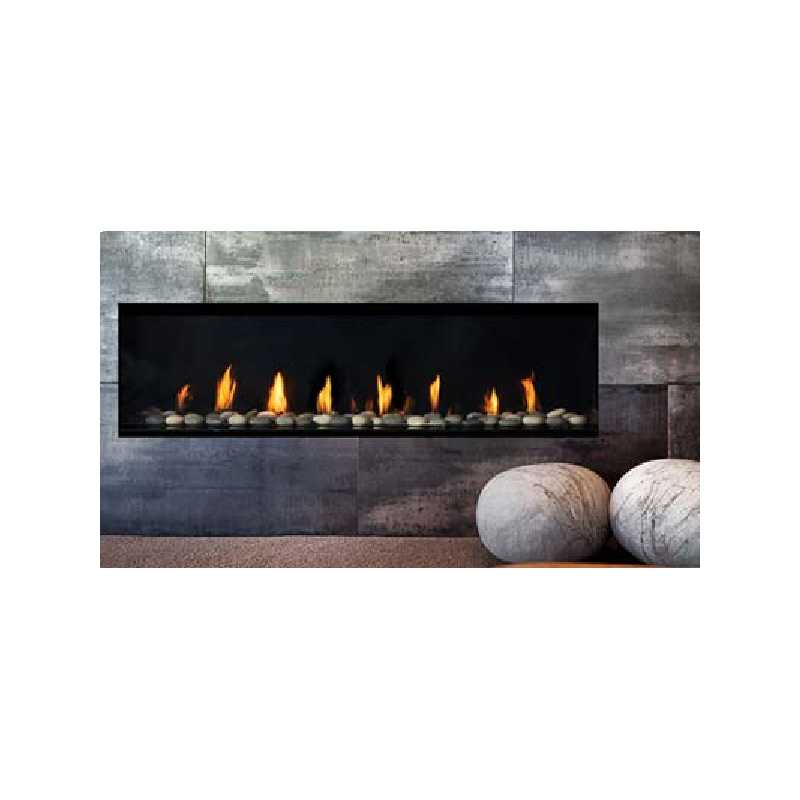 New York View 60 Gas Fireplace, City Series Modern Gas Fireplaces, Grills, Miami FL
