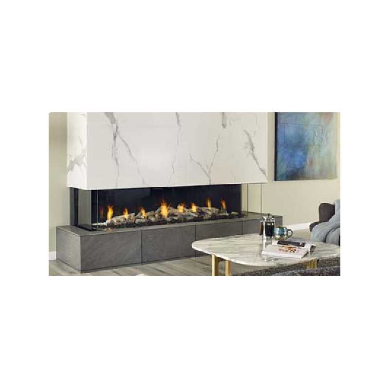 San Francisco Bay 72 Gas Fireplace, City Series Modern Gas Fireplaces, Grills, Miami FL